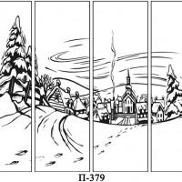 Пескоструйные рисунки для шкафа-купе 4х