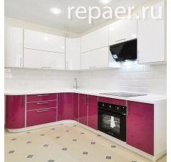 Радиусный кухонный гарнитур 1800 х 2500 мм.