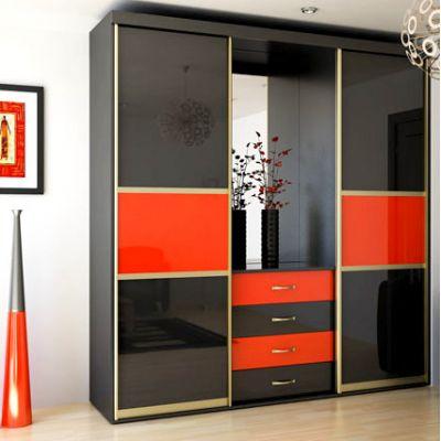 Шкаф купе 2100 х 2500 х 500 цветное стекло