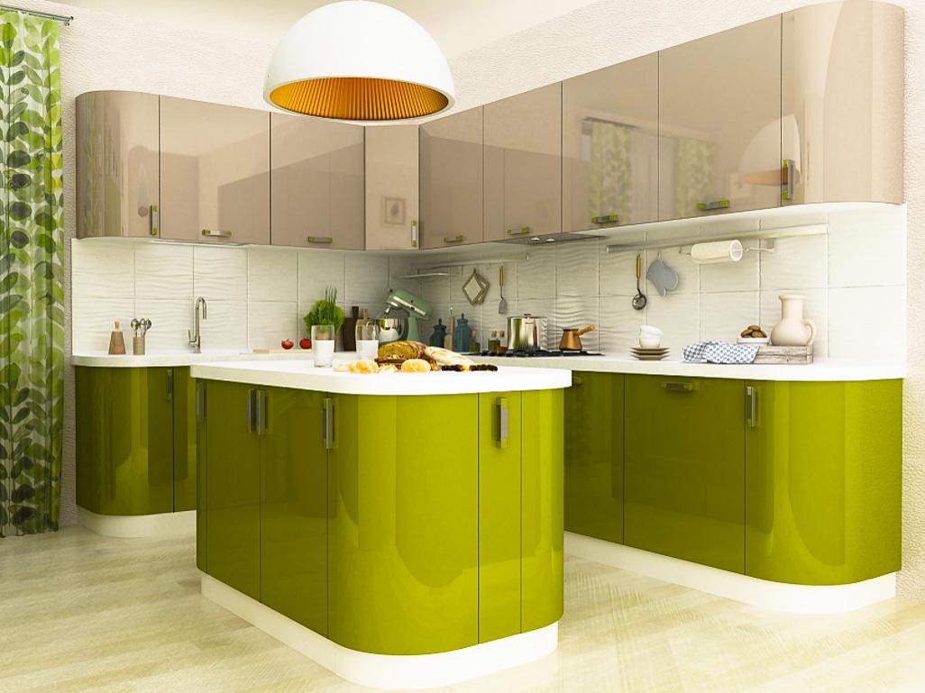 Дизайн кухни из акрилайн